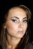 barn för skönhetståendekvinna Fotografering för Bildbyråer