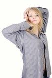 barn för skjorta för flickaman nätt s Royaltyfri Foto