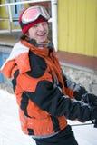 barn för snowboarder för hälsobildlivsstil Arkivfoton