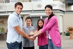 barn för stående för familjhusmodell Royaltyfria Foton
