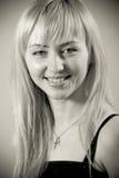 barn för ståendestudiokvinna Fotografering för Bildbyråer