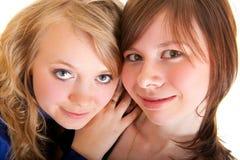barn för vänflicka två arkivfoto