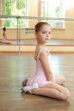 barn för vektor för ballerinatecknad filmillustration Royaltyfri Bild