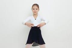 barn för vektor för ballerinatecknad filmillustration Royaltyfri Foto