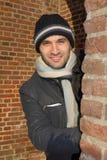 barn för vinter för hattman slitage Royaltyfri Fotografi