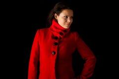 barn för vinter för kataloglagkvinnlig model posera Royaltyfria Bilder