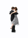 barn för white för tango för bakgrundspardans Arkivbilder