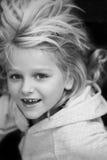 barn först henne förlorande tand Arkivbild