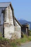 Barn Facade and Mountain Royalty Free Stock Image