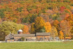 Barn and fall colors Royalty Free Stock Images