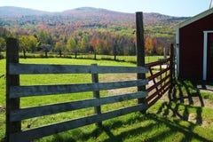 Barn in fall foliage of Sugar Hill Stock Photo