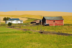 Barn and farmhouses in Palouse Stock Photography