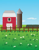 Barn and Fence Royalty Free Stock Image