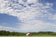 Barn in a field Royalty Free Stock Photo