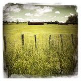 Barn in field Royalty Free Stock Images