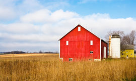 Barn And Field stock photo