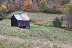 Barn in field in autumn Royalty Free Stock Photography