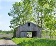 Barn in Field stock images