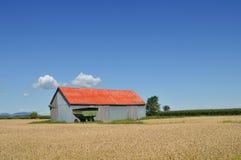 barn fields red Стоковое Изображение RF