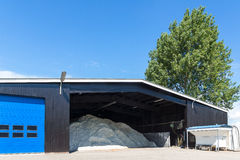 A barn filled with salt Stock Photo