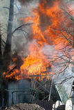 Barn Fire Royalty Free Stock Image