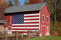 Barn Flag. An american flag painted on a barn Royalty Free Stock Images