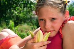 barn för flickasorglilja Arkivfoton