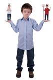 barn för ängelpojkejäkel Arkivbild