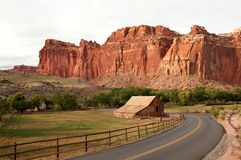 Barn in Fruita, Capital Reef National Park Stock Image