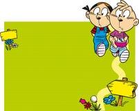 Barn går att fotvandra stock illustrationer