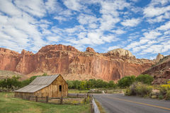 Barn of the Gifford homestead in Capitol Reef. Utah, USA royalty free stock photos