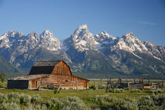 Barn at grand teton Stock Image
