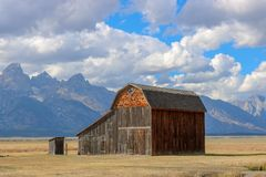 BARN GRAND TETON NATIONAL PARK stock image