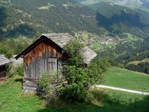 Barn in Grimentz Royalty Free Stock Image