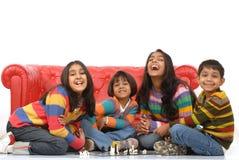 barn grupperar att leka Royaltyfri Bild