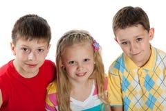 barn grupperar tre royaltyfri bild