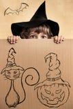 barn halloween royaltyfri bild
