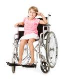 Barn handikapp begreppsmässig bild royaltyfri bild
