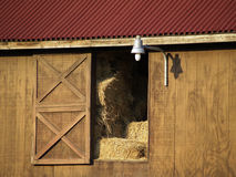 Barn with hay Stock Photos