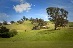 Barn on the hill in Australia Stock Image