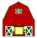 Barn with horses in stall Royalty Free Stock Photography