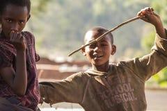 Barn i Burundi royaltyfria foton