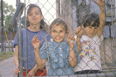 Barn i en Los Angeles getto Arkivbilder