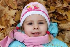 Barn i höst Royaltyfria Bilder