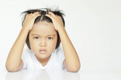 Barn i ilsket Fotografering för Bildbyråer