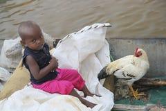 Barn i Madagascar Arkivfoton