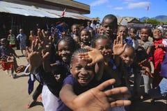 Barn i Madagascar Arkivbilder