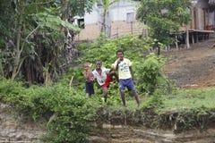 Barn i Madagascar Arkivfoto