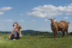 Barn i natur Royaltyfri Bild