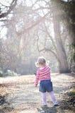 Barn i park Arkivfoto
